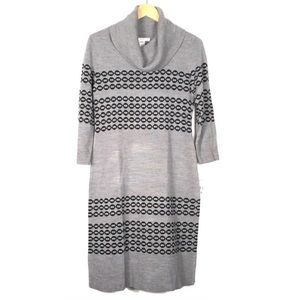 Studio One Gray Cowl Neck Sweater Dress Size Small